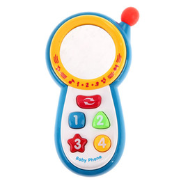 Kids Learning Phone Canada - Musical Phone Toy Sound Learning Study Educational Vocal Toys for Toddler Baby Kids Simulation Plastic Electronic Cell Phone P20
