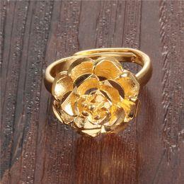 $enCountryForm.capitalKeyWord NZ - Korean version new wholesale priced at direct female ring 18K gold plated big Rose Ms. tail ring KJ024