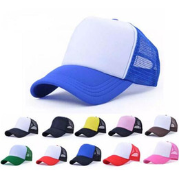 wholesale blank trucker cap Canada - Men Blank Snap Back Cap Trucker Mesh Hats Women Plain Baseball Caps for Spring Summer Snapbacks Caps Suncreen Hat