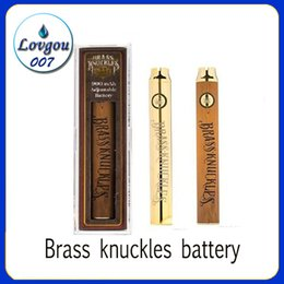 Discount thick brass knuckles - Brass Knuckles Vape Battery 650mAh 900mAh Variable Voltage Preheat E-Cigarette VV Battery Pen For 510 Thraed Thick Oil C