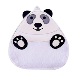 $enCountryForm.capitalKeyWord UK - Storage Bag 3D Cartoon Panda Storage Bag Kids Toy Collection Bathroom Waterproof The Wall Net Wash Supplies Organizer