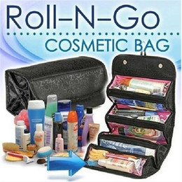 roll n cosmetic bag NZ - Hot sales wholesales Free shipping Smart Travel Organizer Roll-N-Go Cosmetic Pouch Roll Up Toiletry Bag