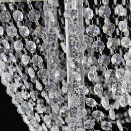 Clear Crystal Beads For Gril Clear Chandelier Bead Lamp Chain For Wedding Party Tree Garlands Decoration Links, Rings & Tubes Hair Extensions & Wigs Diy Jewelry Making