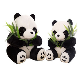 Wholesale 2018 size Hot Super Cute Plush Toys Stuffed Animals Panda Doll With Bamboo For Boys Girls Children Kids Chritmas Gifts
