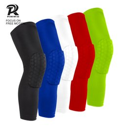 Discount youth pads - 1 Piece youth antislip knee sleeve basketball gym powerlifting extreme Sports antislip collision avoidance Honeycomb kne