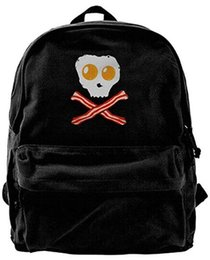 $enCountryForm.capitalKeyWord NZ - Tasty Skull Bones Canvas Shoulder Backpack Backpack For Men & Women Teens College Travel Daypack Black