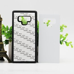 2d Sublimation Cases NZ - 60pcs 2D PC+TPU soft edge Sublimation Case for Samsung Note 9 8 S9 S8 Plus Heat Transfer Printing Phone Case for DIY Design