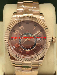 $enCountryForm.capitalKeyWord Australia - Luxury Watches 2 Style Chocolate Dial 18kt Everose Gold Automatic Fashion Brand Men's Watch Wristwatch New Style