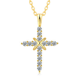 silver crucifix pendants Australia - N41001 Retro Silver Cross Charm Pendant Full Ice Out CZ Simulated Diamonds Catholic Crucifix Pendant Necklace With Long Cuban Chain