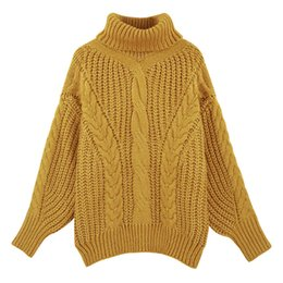 Coarse Pullover Women s Jumper Turtleneck Sweater Female Jumper Women Warm  Sweater thick Winter Cable Knitted Oversized Sweater 93d003b3f