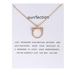 animal pendant necklaces cat ear alloy pendant necklaces with card women fashion pendant jewelry holiday gifts - Holiday Cards Online