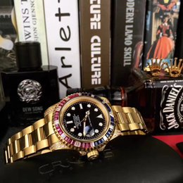 Sub Steel Canada - AAA top luxury brand men sub watch 40mm mobile diamond automatic mechanical watch Black Dial gold stainless steel strap wrist watch