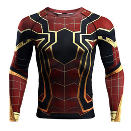 spiderman cosplay 2019 - Raglan Sleeve Spiderman 3D Printed T shirts Men Compression Shirts 2018 NEW Crossfit Tops For Male Cosplay Costume Cloth