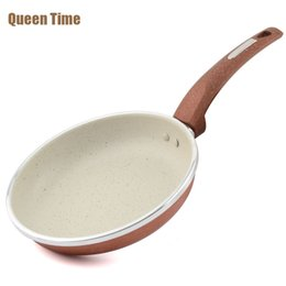 Round Cooking Pan NZ - 8 Inch Non -Stick Skillet Copper Griddles &Grill Pans Round Shape Cooking Pan Professional Frying Pan Kitchen Tools Gas Cooker