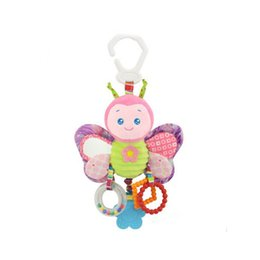 Wholesale Cute butterfly rabbit duck bird baby kids stroller bed around hanging bell rattle activity soft toy outer baby plush toy good quality