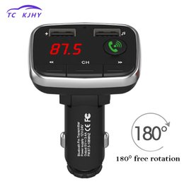 dual audio car 2019 - Car MP3 Audio player FM Transmitter Bluetooth Car Kit Wireless Bluetooth Receiver Adapter Handsfree 4.4A Dual USB Charge