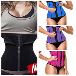 shapers neoprene 2019 - Neoprene Slimming Waist Trainer Body Shaper Women Corsets with Zipper Shapers Cincher Corset Bodysuit Tank Shapewear 120