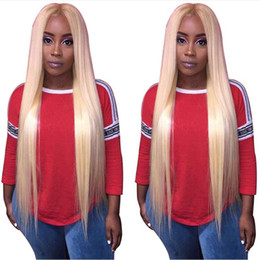 long blond human hair wigs NZ - #613 Glueless Lace Front Human hair Wigs With Baby Hair 130 Density Straight Blond Remy Hair Brazilian Lace Wigs Full End