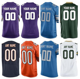 2019 Custom american football jerseys Green Chicago Bay Vikings Packers  Bears Lions color rush olive Salute to Service jersey Stitched 5XL 1d93d4d82