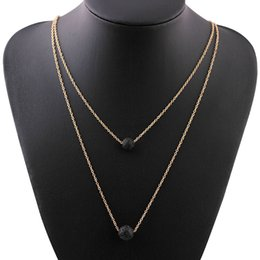Volcanic lava pendant australia new featured volcanic lava 2018 hot sale fashion wild natural lava volcanic stone double necklace individuality ball pendant exquisite clavicle chain 162642 mozeypictures Gallery
