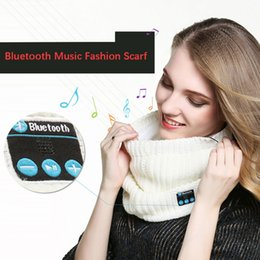 warming scarf Canada - Rechargeable Wireless Bluetooth Music Headset Speaker Smart Warm Knitted Scarf e262 promotion