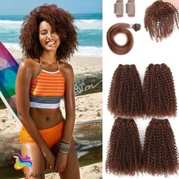 $enCountryForm.capitalKeyWord Australia - new hairstyle 12inch 16inch afro kinky curl 8pcs pack synthetic hair extenison afro jerry tiny curl weaves ombre color for black woman