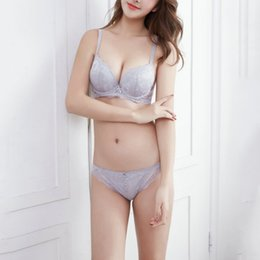 85fc31e290 Beautiful Back Strap Bras UK - Sexy deep V small chest gathered ladies  underwear lace strap