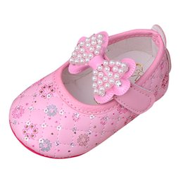 4f79ca84 2018 New Pink Toddler Kids Girls Princesas para bebés Zapatos Bow Soft  Floral Pearls Sandals Sneakers Zapatos suaves y cómodos