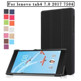 "$enCountryForm.capitalKeyWord Canada - Tablet Case For Lenovo Tab 4 TB-7504F N 7.0"" PU Leather Stand Flip Tablet Cover Case"