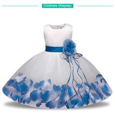 $enCountryForm.capitalKeyWord NZ - Flower Girl Dress Summer Girl Clothing 2018 Baby Wedding Veil Dresses Kids Wear Costume Party For Girls Clothes Blue Free shipping
