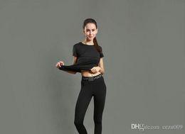 Calças de yoga calças esportivas das mulheres correndo apertado aptidão treinamento abrangente leggings secagem rápida estiramento respirável 2017 novo em Promoção