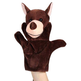 China 1Pcs Cute Bear Wolf Turtle Cows Dragon Hand Puppet Finger Puppet Animal Glove Hand Dolls Plush Toy For Baby Child Friends supplier baby finger gloves suppliers