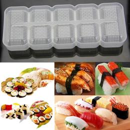 $enCountryForm.capitalKeyWord NZ - New Japan Nigiri Sushi Mold Rice Ball 5 Rolls Maker Non Stick Press Bento Tool JJ2834