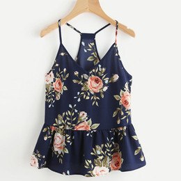 d8009d6df8ec50 2018 Women Strapless Top Floral Casual Sleeveless Crop Top Vest Tank Loose Sexy  Shirt Cami Summer Beach Halter Vest