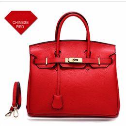 nude color leather handbag 2018 - New Style Genuine Leather Handbags Women Designer Handbags Fashion Brand Handbags Large Capacity Totes Bags Shoulder Bag