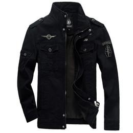 Discount uniform army - 2018 New men green khaki 3 color uniform winter jacket casual wind jacket clothing