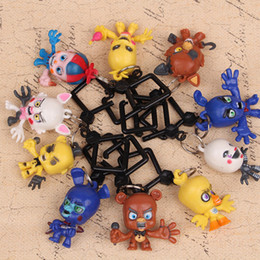 Ring night online shopping - 10Pcs Set CM Five Nights At Freddys key ring toys MINI Action Figure Loose Toys cute Doll Children s Day Gift keychain pendant FFA829