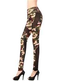 $enCountryForm.capitalKeyWord Canada - Milk Silk Camouflage Printed Mesh Stitching Women's Leggings Big Yard Slimming Ninth Pants 2018 New Tights Women Casual Pencil Pants