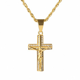 Mens gold pendant designs australia new featured mens gold pendant mens gold pendant designs australia fashion mens jesus cross pendant necklace crystal rhinestone design hip aloadofball Gallery