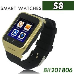Smartwatch Gps Wifi Camera Australia - S8 Android 4.4 Smart Watch GSM Phone GPS MTK6572 Dual Core 512MB 4GB 2.0MP Camera SIM 3G WiFi Bluetooth 4.0 WCDMA 1.54 inch Smartwatch 20pcs