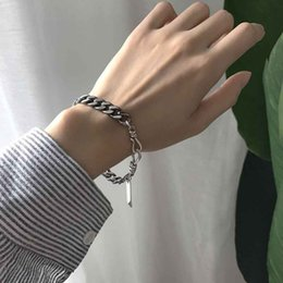Silver Falls Australia - kendra scott 925 sterling silver N chain falling flat chain antique retro personalized bracelet hand gold chain designer bracelet