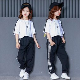 $enCountryForm.capitalKeyWord Canada - Kids Ballroom Modern Jazz hip Hop Dance Performance Costumes Set Shirt Tops Pants for Girls Boys Party Dancing Clothes Outfits