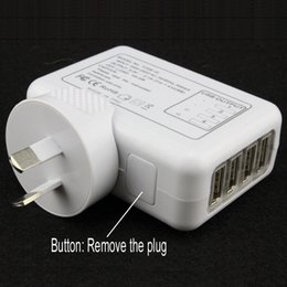$enCountryForm.capitalKeyWord NZ - EU AU US UK Plug 4 Port USB Wall Charger 2.1A 10W Portable Travel Charger Power Adapter For Iphone Ipad Samsung HTC