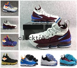 Discount boxing games - 2018 new top LeBron 15 AZG First Game Outdoor Shoes LeBron shoes Lakers Crimson james 15 lbj shoes size us7-us12 with bo