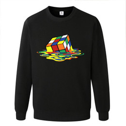 Cube blaCk letters online shopping - Male Melted Cube Funny Black Gray Mens Hoodies and Sweatshirts xl with Hoodies Big Sale Sweatshirt Men Brand Fashion Plus Size for Men