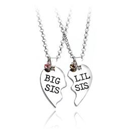 9f8d57605 Para las Hermanas GRANDES SIS LIL SIS Para siempre mejor amigo Split Heart  Family Love Colgante Collar Regalo Bff Collar