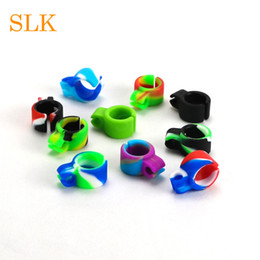 man pipe NZ - Silicone Smoking Cigarette holder Tobacco Joint Holder Ring regular size Smoking Tool accessories Gift For Man Women Pipes 10 color dab tool