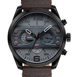$enCountryForm.capitalKeyWord Australia - MINIFOCUS Top Brand Luxury Leather Military Watches Men's Casual Sport Quartz Watch Chronograph Wrist Male Clock montre homme