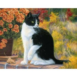 $enCountryForm.capitalKeyWord Australia - Frameless Cats Animals Diy Painting By Numbers Modern Hand Painted Oil Painting On Canvas For Home Wall Art Picture 40 *50cm