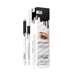 $enCountryForm.capitalKeyWord Canada - Menow 12pcs set white eyeliner pencil waterproof highlighter pen soft matte eyeliner shadow beauty tool eye liner lip